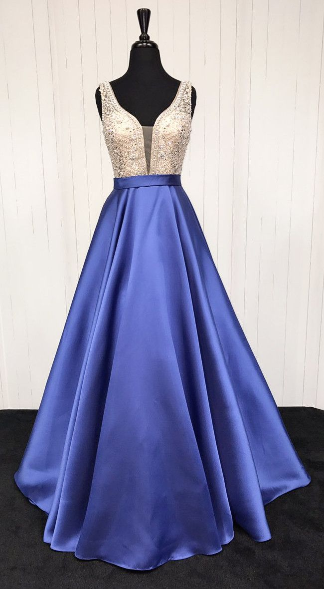 gorgeous prom dress, 2018 prom dress, long prom dress, royal blue ...