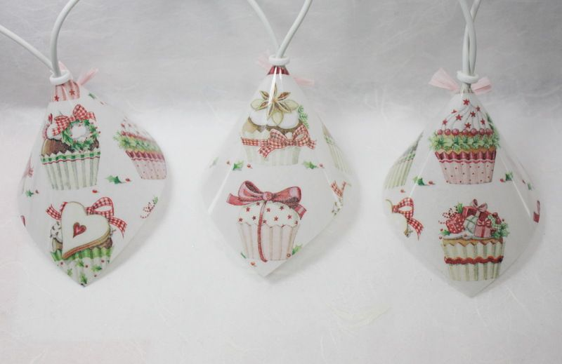 """Lichterkette """" Weihnachtliche Muffin´s """" von Creativablue auf DaWanda.com"""