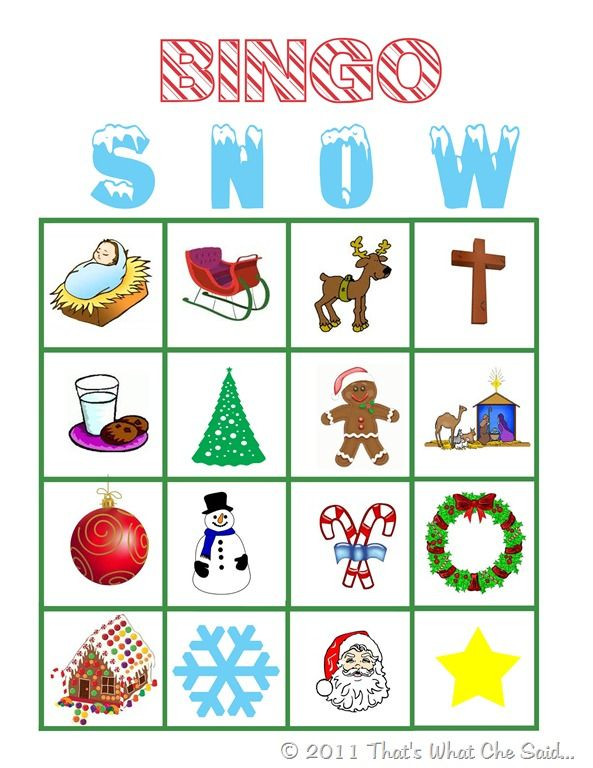 Free Printable Holiday Bingo Cards & Calling Card Sheets~ Great ...
