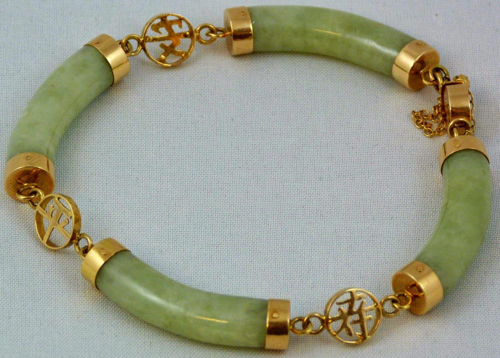 Jade bangle repair idea google search jadeite nephrite jade bracelet set in yellow gold with chinese symbol separators buycottarizona