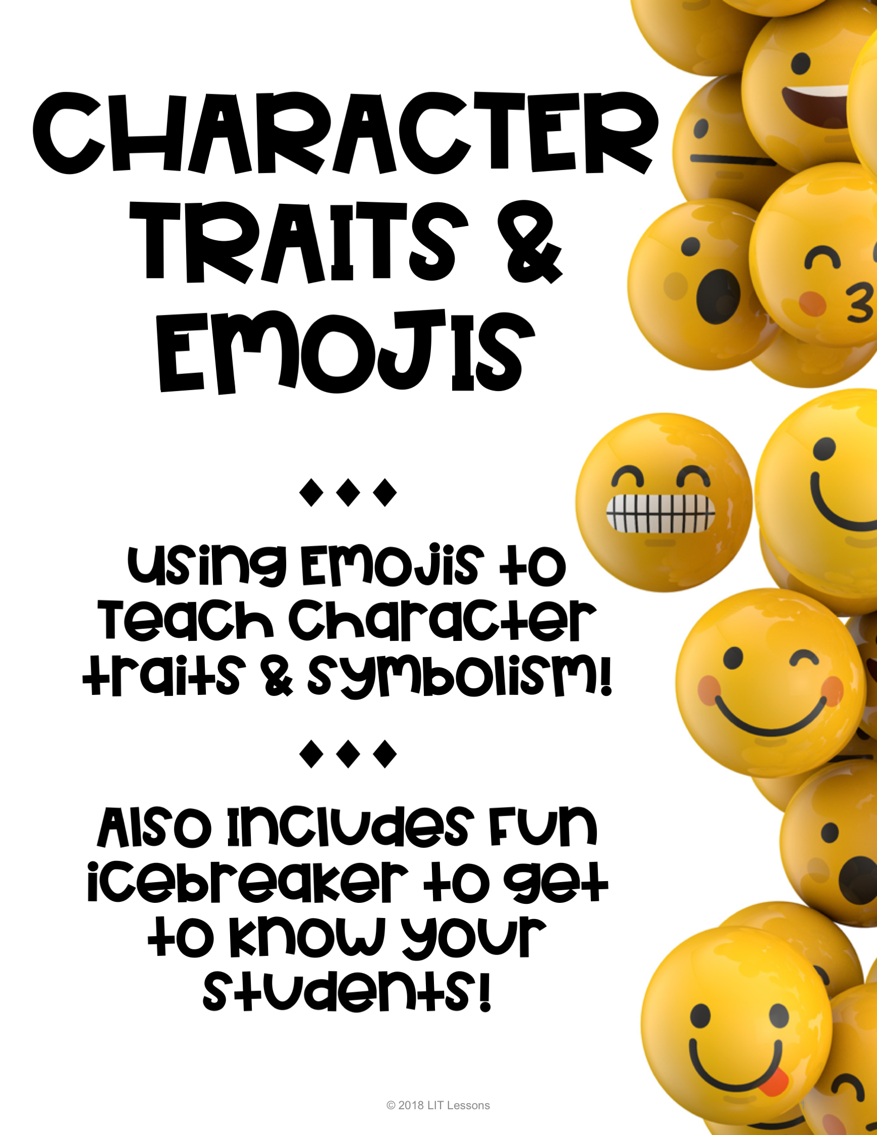 Character Traits Symbolism Emojis Use With Any Novel Icebreaker Included Teaching Symbolism Icebreaker Symbols [ 2249 x 1738 Pixel ]