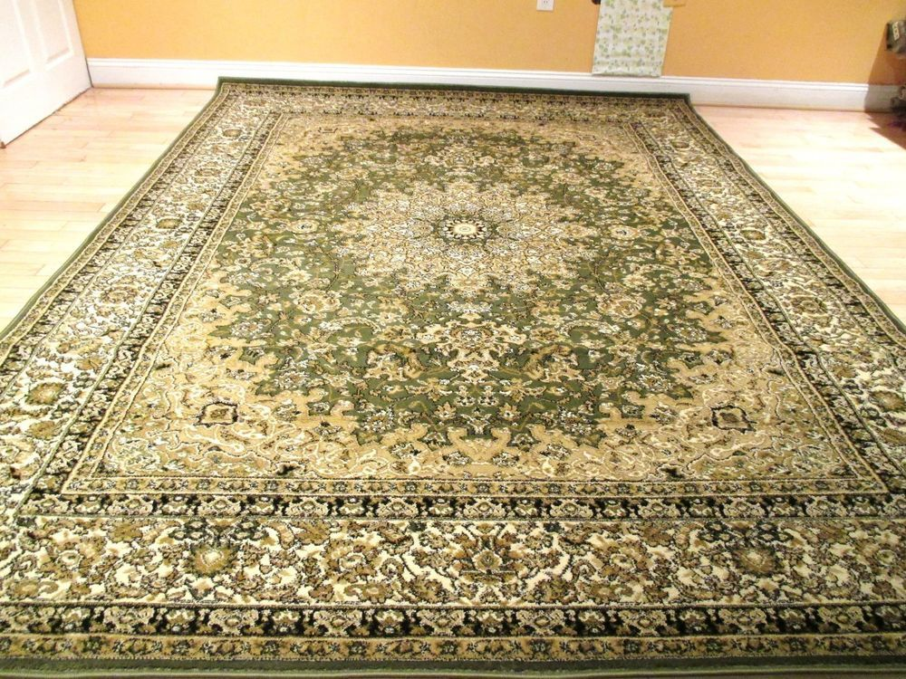 Large Persian 8x11 Rug Traditional Rugs 5x8 Carpet 8x10 Rug Sage Green Area  Rug