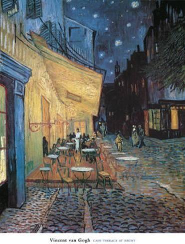 Art Print: Cafe Terrace on Place du Forum Arles by Vincent van Gogh : 32x24in
