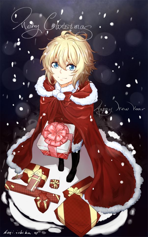 Owari No Seraph Happy New Year Christmas Milyj Anime Malchik