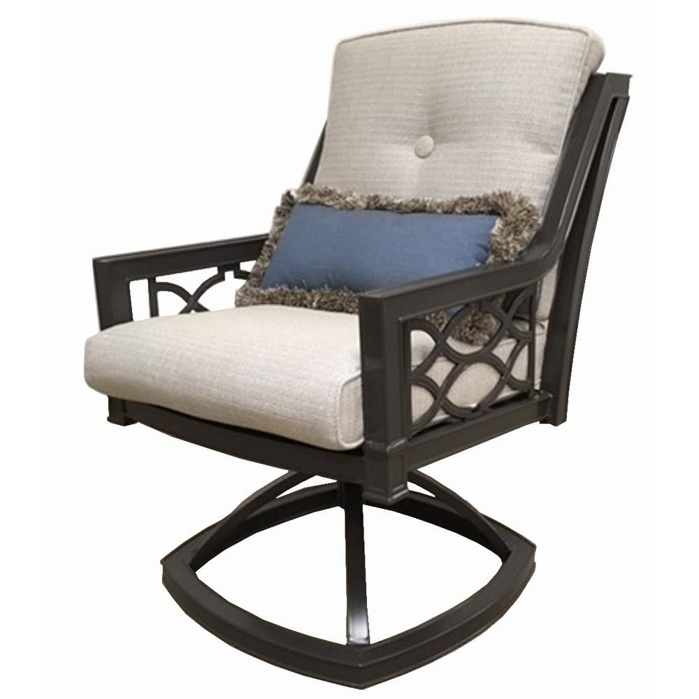 Home Decorators Collection Richmond Hill Swivel Aluminum Outdoor
