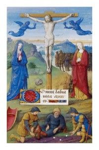 Libro de horas del siglo XV. Pergamino de 17,5 cm. X 11,2 cm. Conservado en la Biblioteca Nacional de Francia.