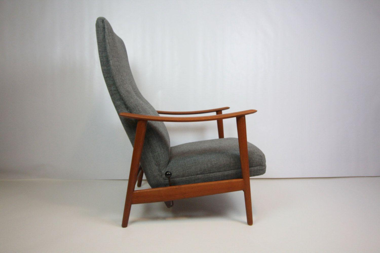 Mid Century Modern Danish Teak Reclining Lounge Chair SUMMER SALE
