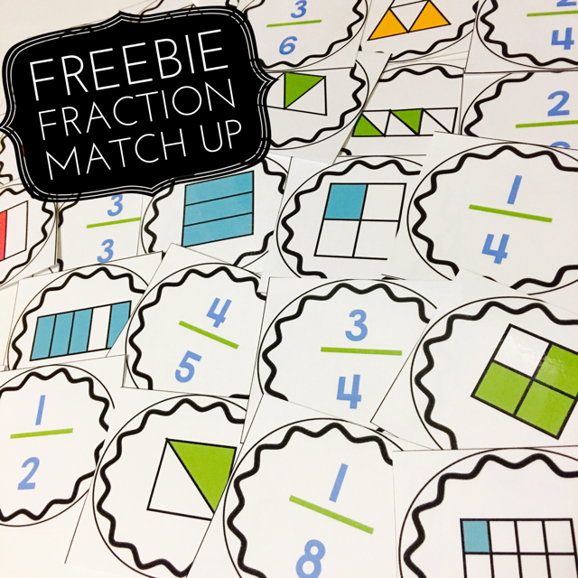 FREE fraction match up game | Centers and Small Groups | Pinterest ...