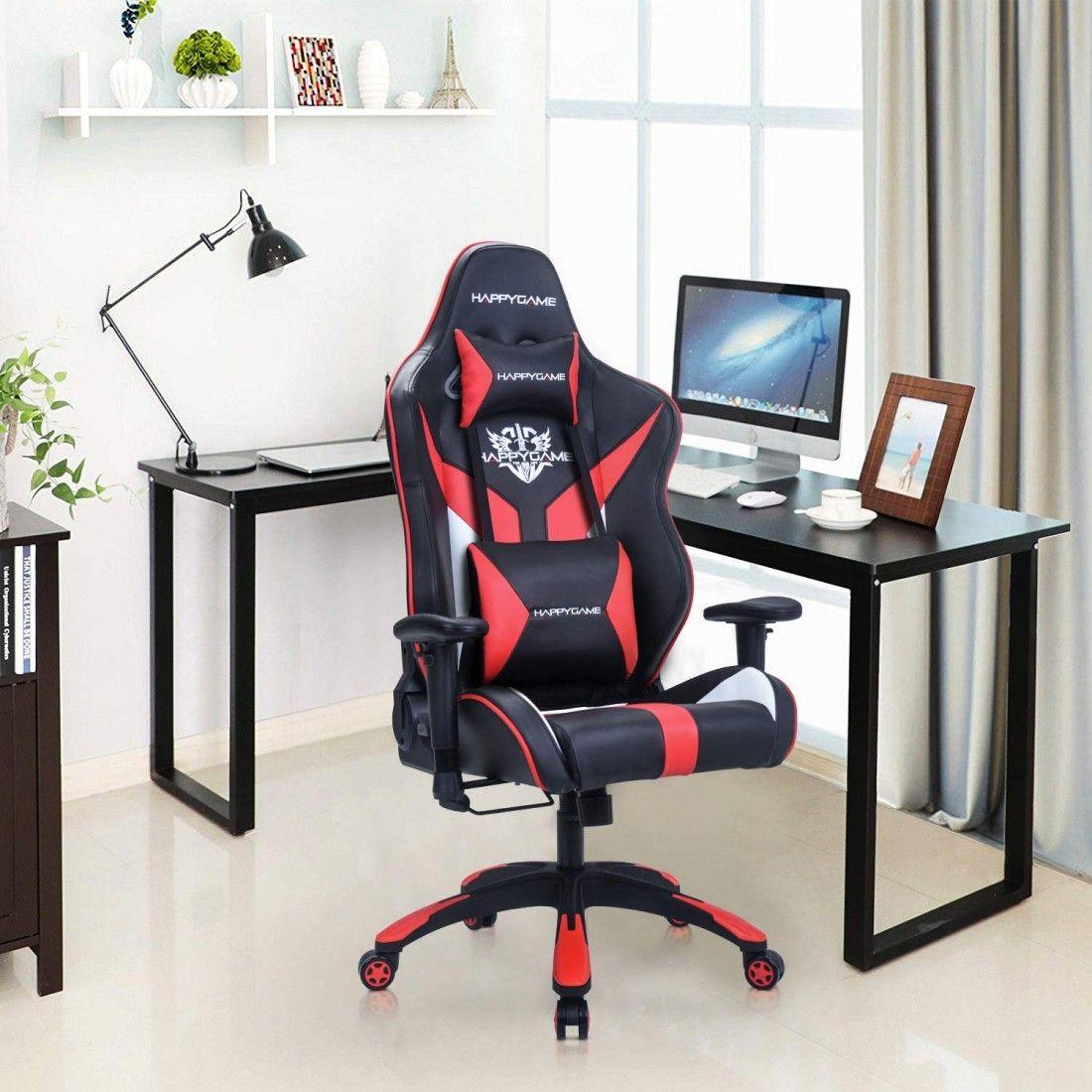 Racing style gaming chair oversized high back ergonomic swivel