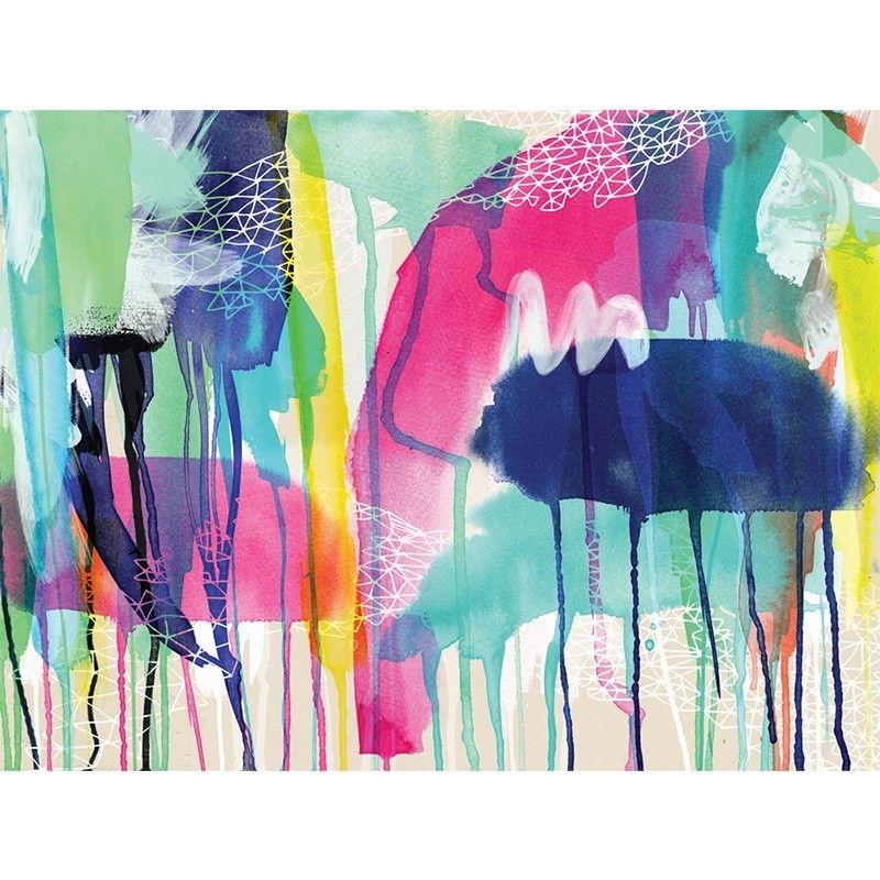 Make a bold artistic statement with the aqua nova canvas print from urban road