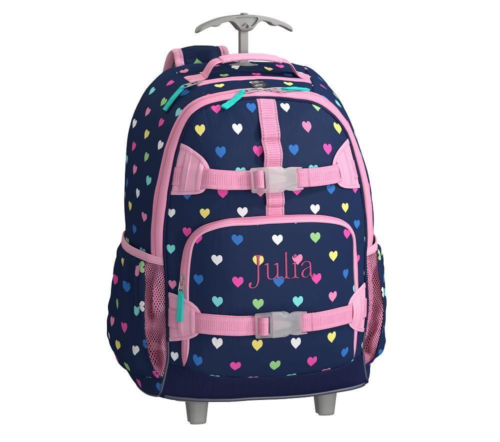 Mackenzie Navy Multicolour Heart Backpack Backpacks
