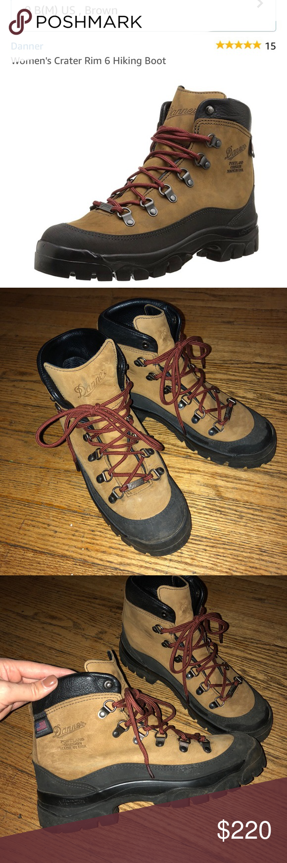 e6060730ba3 Danner women's crater rim 6 hikers. Size 9. Heavy duty hiking boots ...
