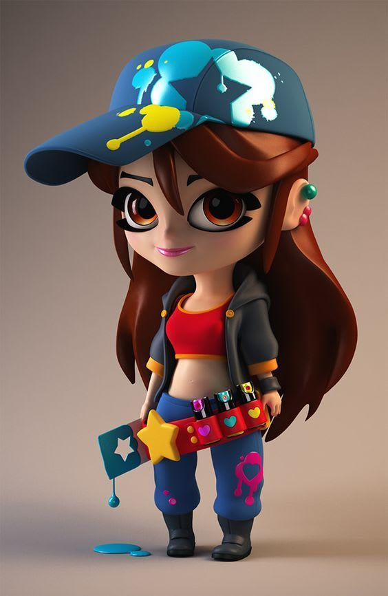 model a 3d character or props for films, print and games maya, zbrush,blender