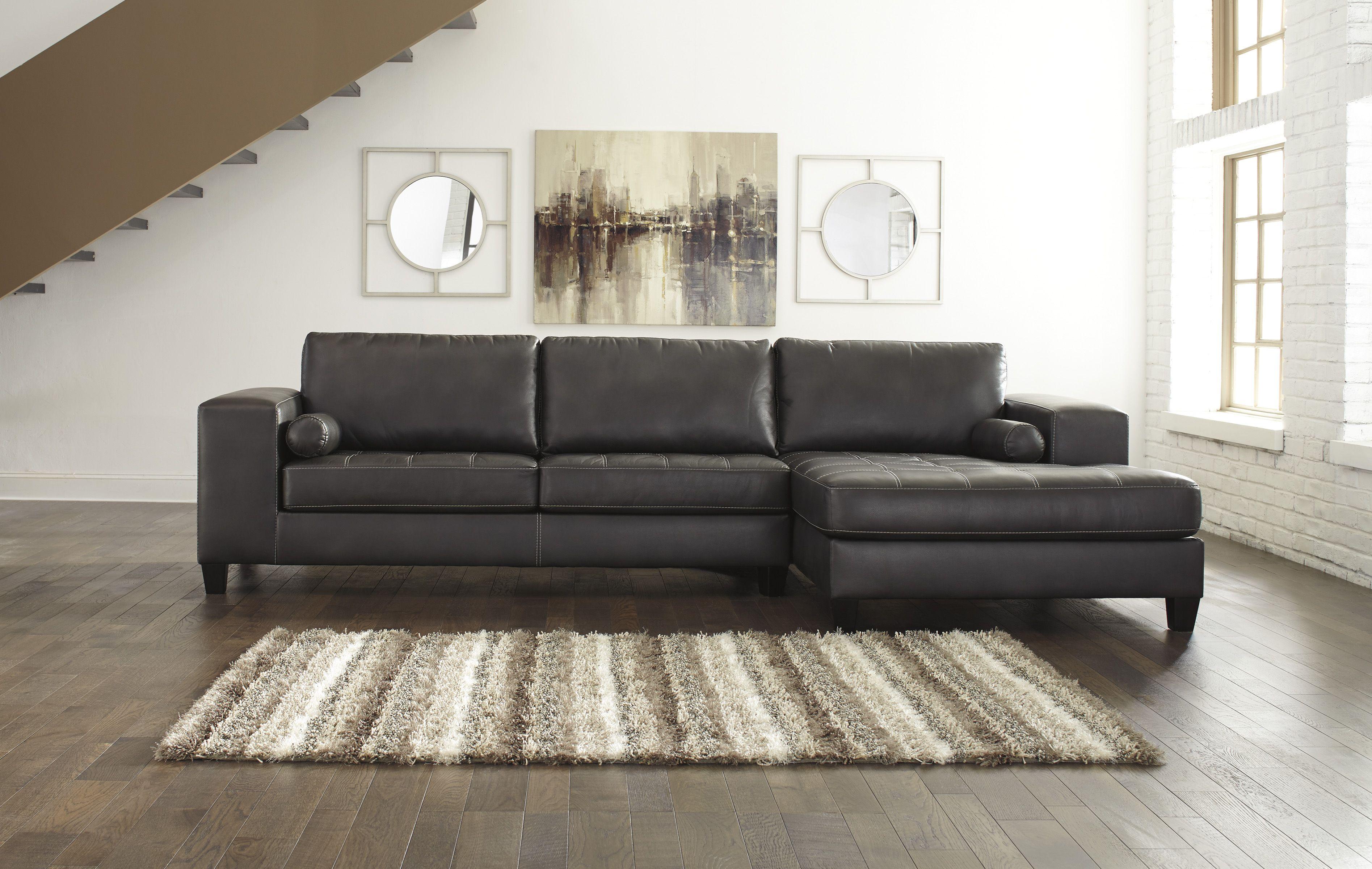 Nokomis Charcoal 87701 17 By Ashley Sectional Sofa Sectional Sofa Couch Ashley Furniture Sectional Sectional