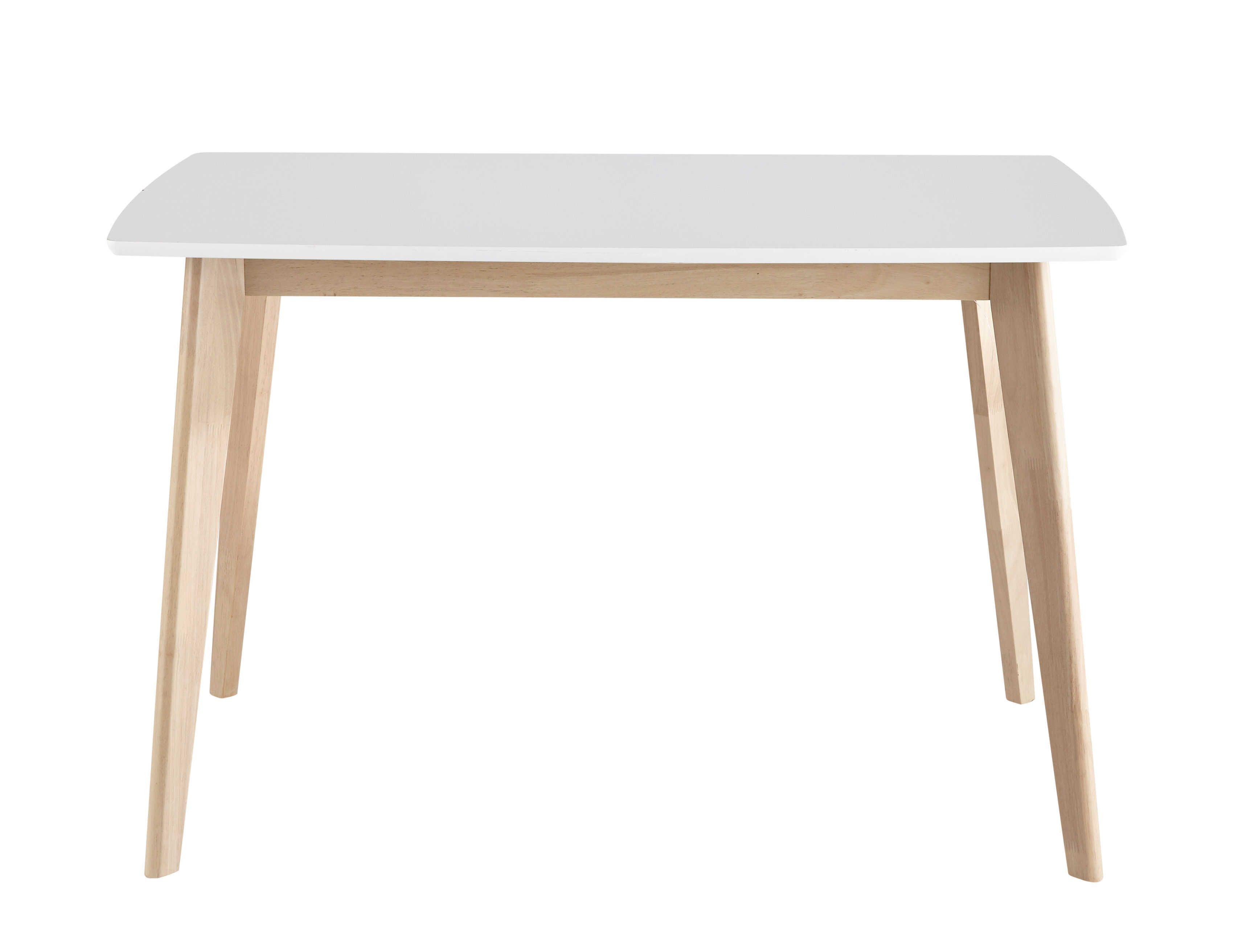 Table A Manger 120 Cm.Table A Manger Blanche 4 6 Personnes L120 Deco Maison