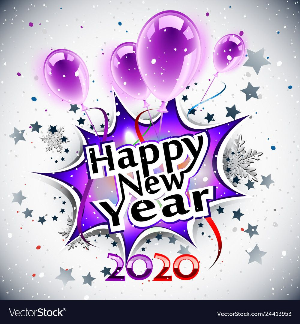 Happy new year 2020 vector image on Веселого рождества