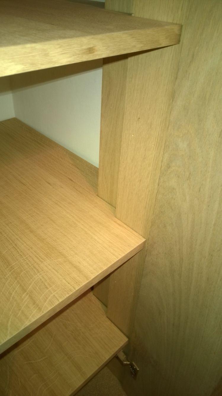 Oak veneered shelving | Bespoke built storage | Pinterest | Shelving ...