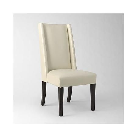 West Elm Willoughby Leather Dining Chair Ivory White