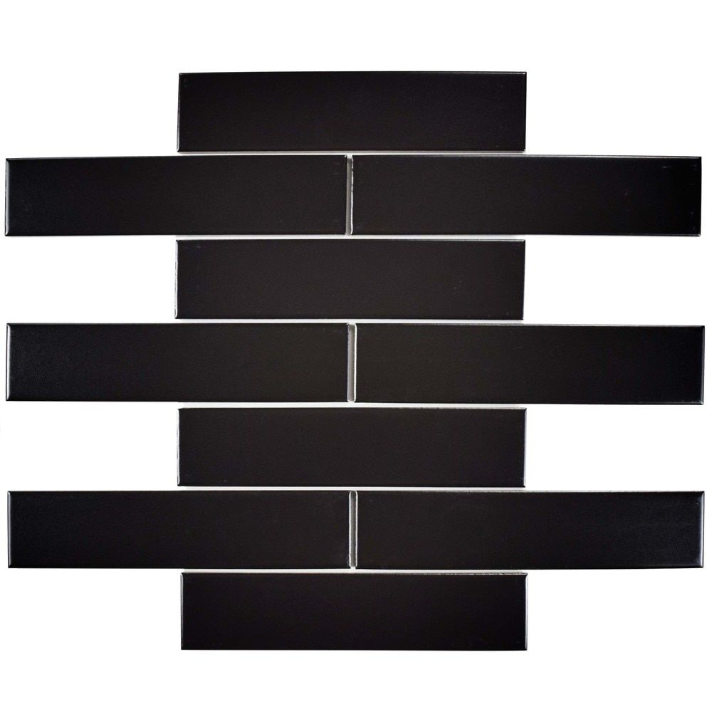 Somertile 175x775 inch victorian soho subway matte black merola tile metro soho subway matte black in porcelain floor and wall tile sq pack fmtshmb the home depot doublecrazyfo Gallery
