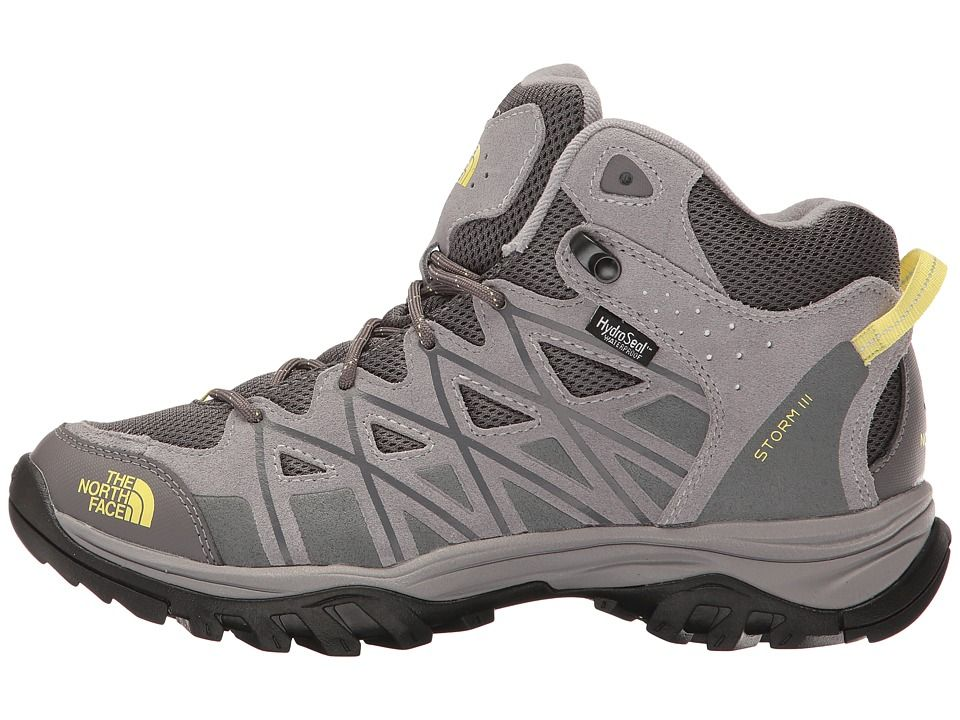 The North Face Storm III Mid WP Women s Hiking Boots Dark Gull Grey Chiffon Yellow