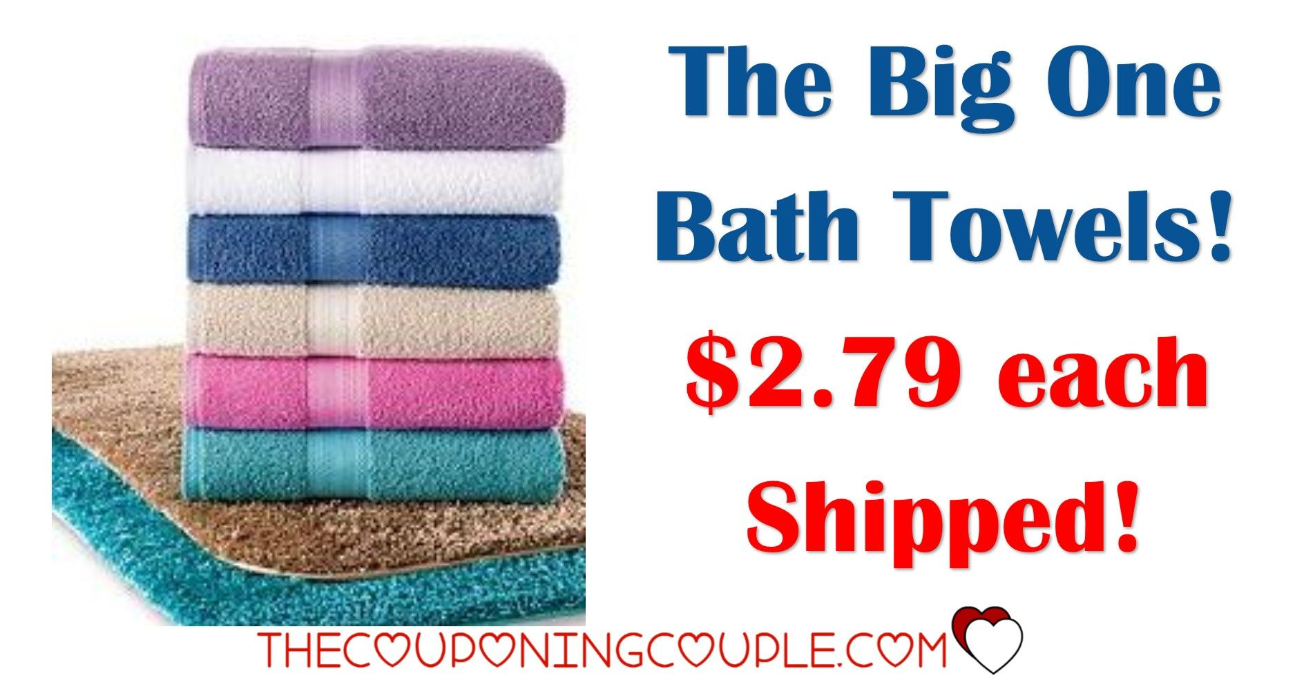 Kohls Bath Towels Magnificent Kohl's The Big One Bath Towels As Low As $279 Each  Coupon Matchups Decorating Design