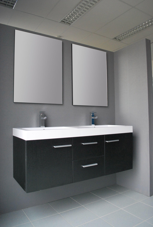 Afbeeldingsresultaat voor badkamer dubbele wastafel met spiegel NIET ...