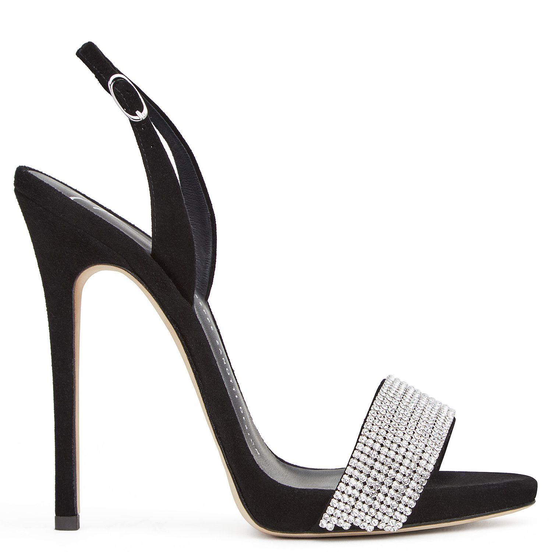 Sophie Crystal Sandals Black Giuseppe Zanotti Giuseppe Zanotti Design Online Store Giuseppe Zanotti Heels Heels Women Black Sandals