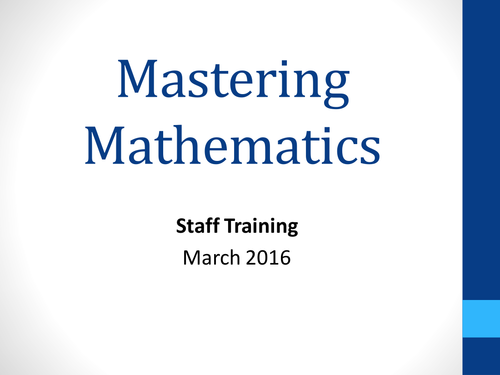 maths mastery staff inset ppt primary maths mastery pinterest