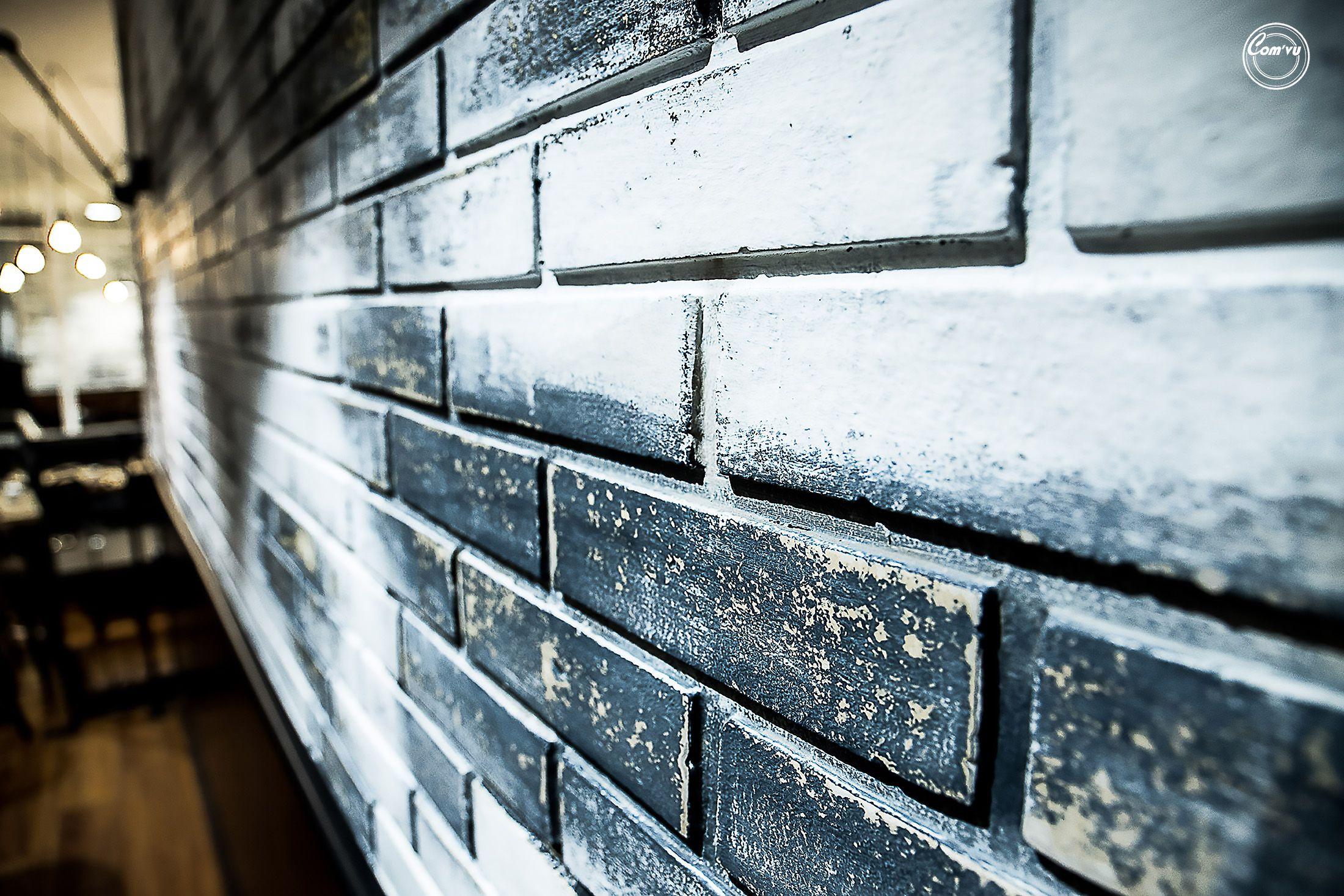 Patine Effet Vieilli Sur Mur De Briques Restaurant Papote