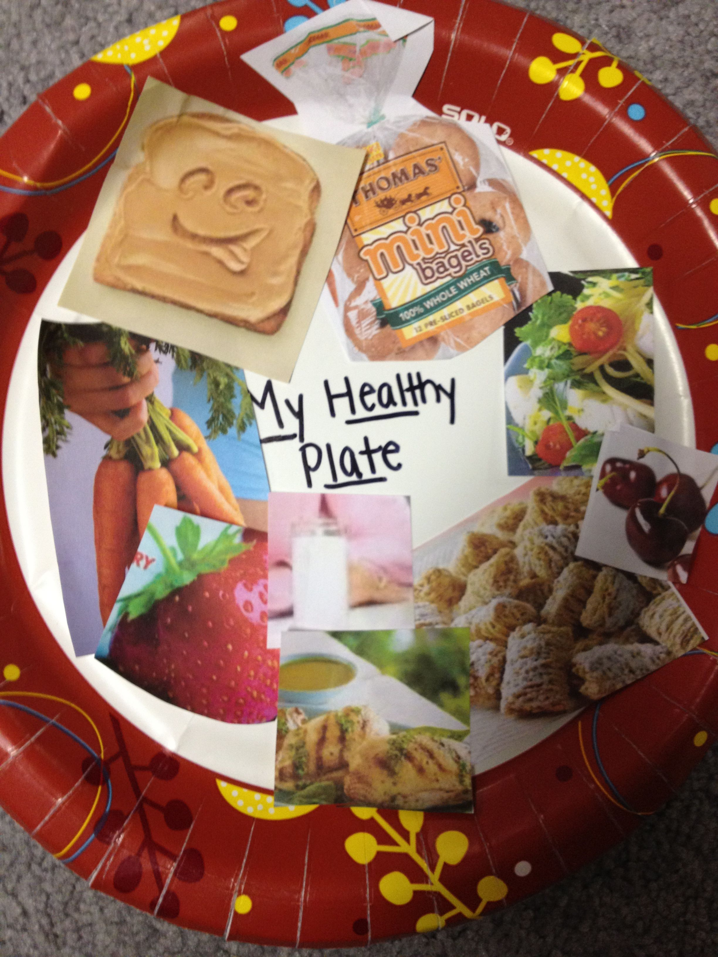 Teaching Healthy Eating Students Use Grocery Flyers Cutting Out Nutritious Foods From The Food