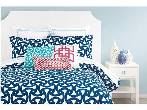 Trina Turk Santorini Comforter Set Queen Blue Zappos Com Free