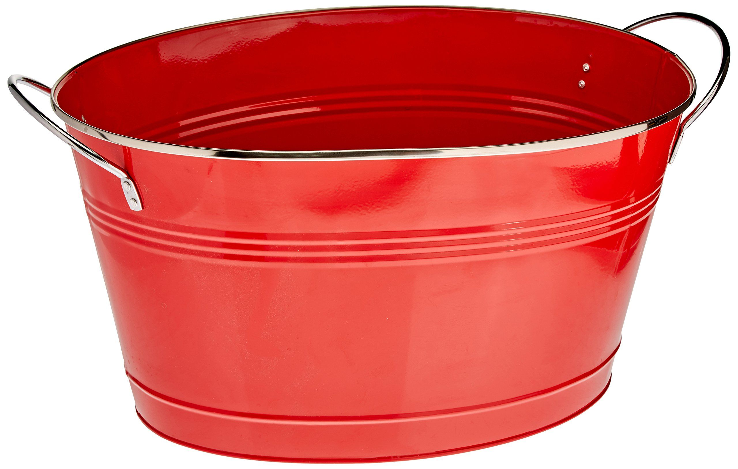 Twine Country Home Large Red Galvanized Metal Tub And Drink Bucket You Can Find More Details By Visiting The Image Lin In 2020 Metal Tub Drink Bucket Galvanized Tub
