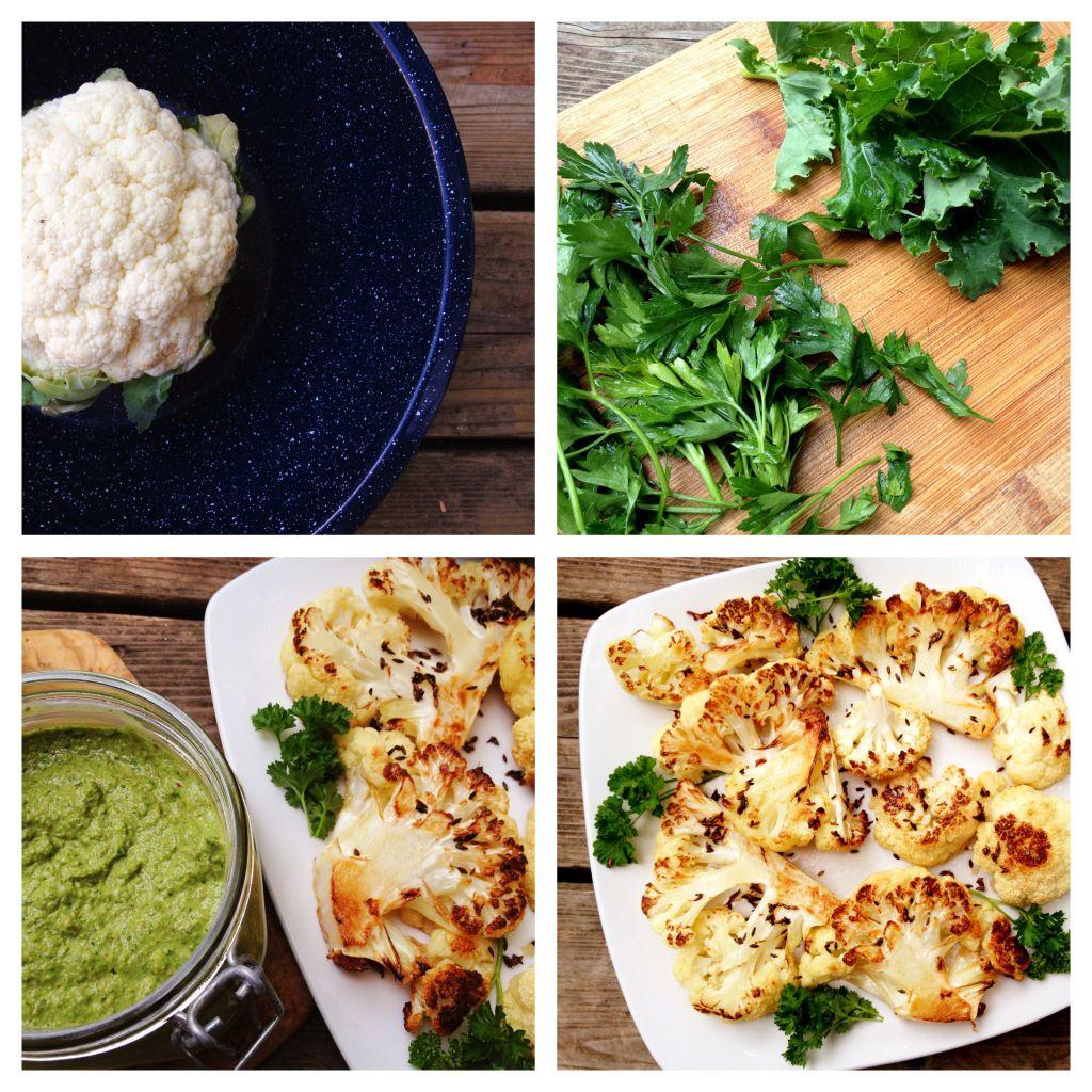 Recipe: Roasted Cauliflower & Kale Pesto | In Pursuit of More