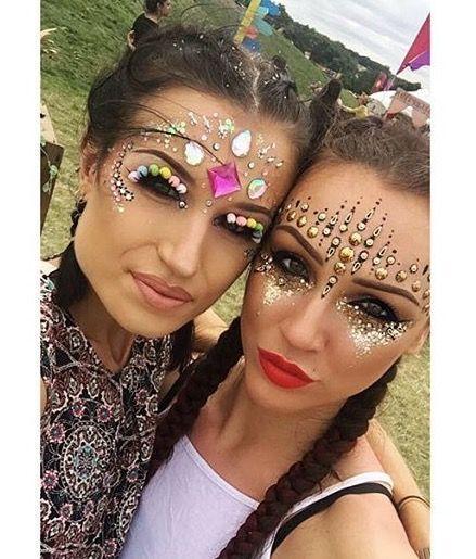 Festival face jewels | Festival Makeup | Pinterest