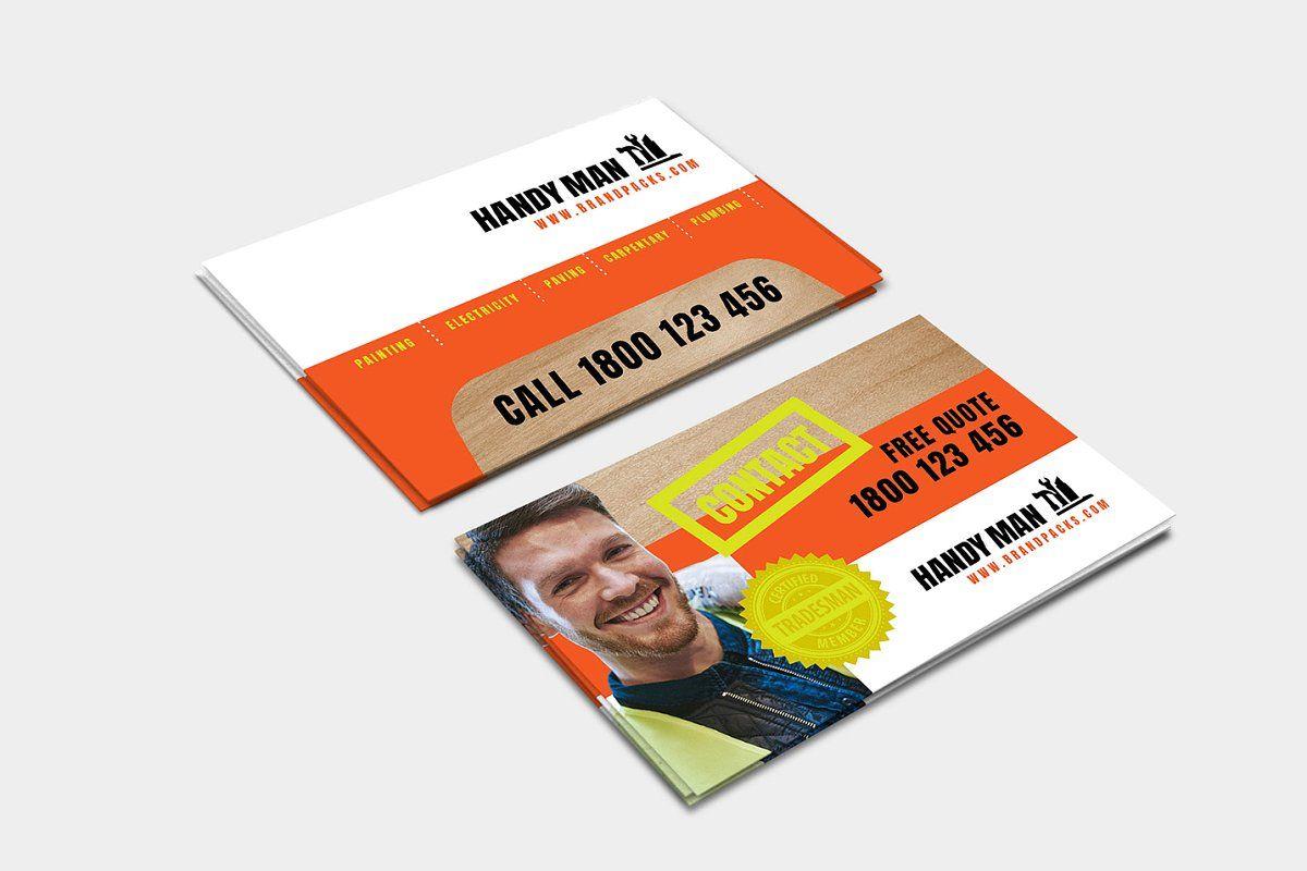 Handyman business card template business card template