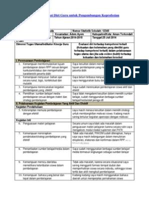 Soal uts kelas 5 semester 2 kurikulum 2013 dan kunci jawaban soal uts kelas 5. 11 Contoh Pengisian Evaluasi Diri Guru Untuk Pengembangan Keprofesian Berkelanjutan Guru Microsoft Office Word Office Word