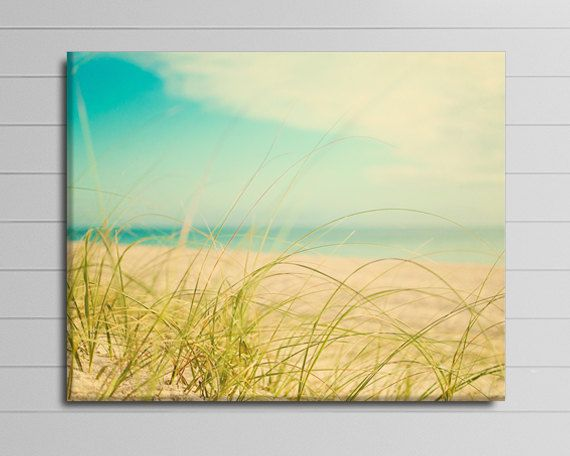 Beach Picture, Large Wall Art Canvas , Ocean Photography, Coastal ...