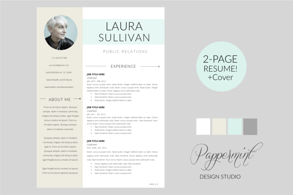 Resume Template  Cover Letter Word  Creative Market Love