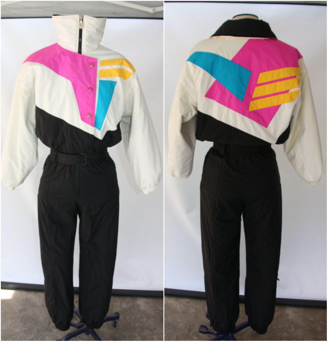 80s Ski Suit Women XS One Piece Ski Suit Retro Snow Suit Women XS Vintage Ski Suit Skiing Costume Ski Coveralls Snowboard Suit 80s Ski Wear