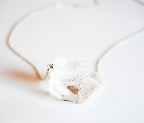 Quartz and Chain Necklace