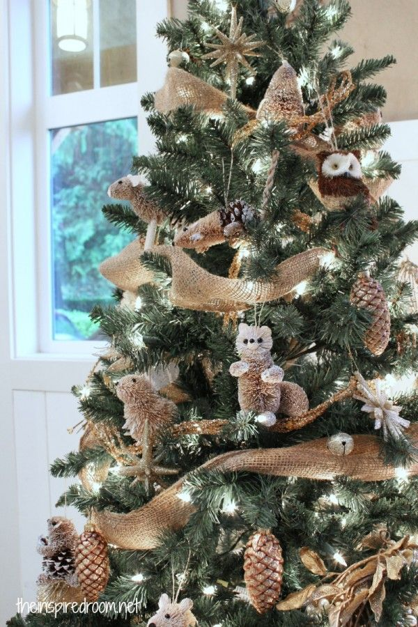 My Woodland Christmas Tree Reveal | Natural, Christmas tree and ...