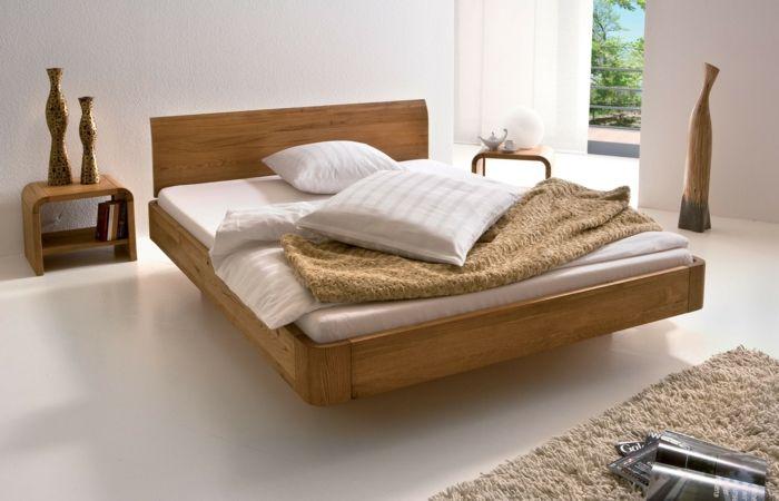 Betten Design Holz Schlafzimer Einrichten Teppich Dekovasen