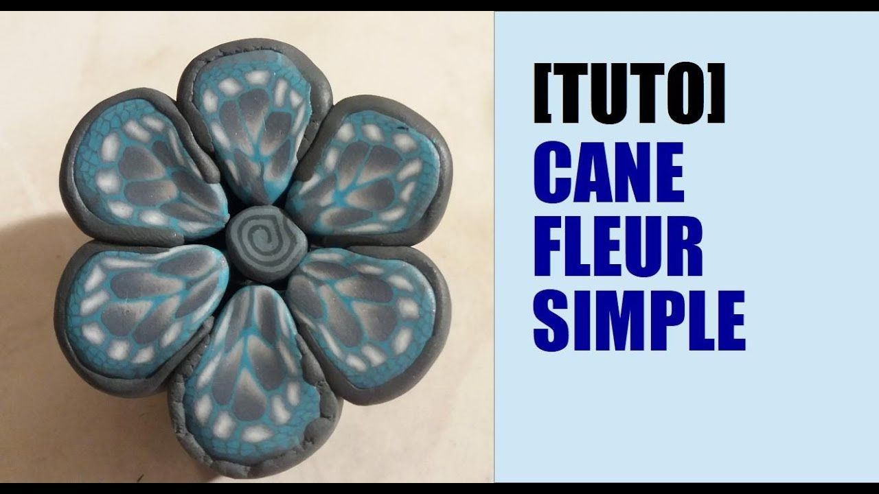 TUTO CANE FLEUR BLEUE SIMPLE EN FIMO / PREMO | Simple, Polymer clay, Tutorial