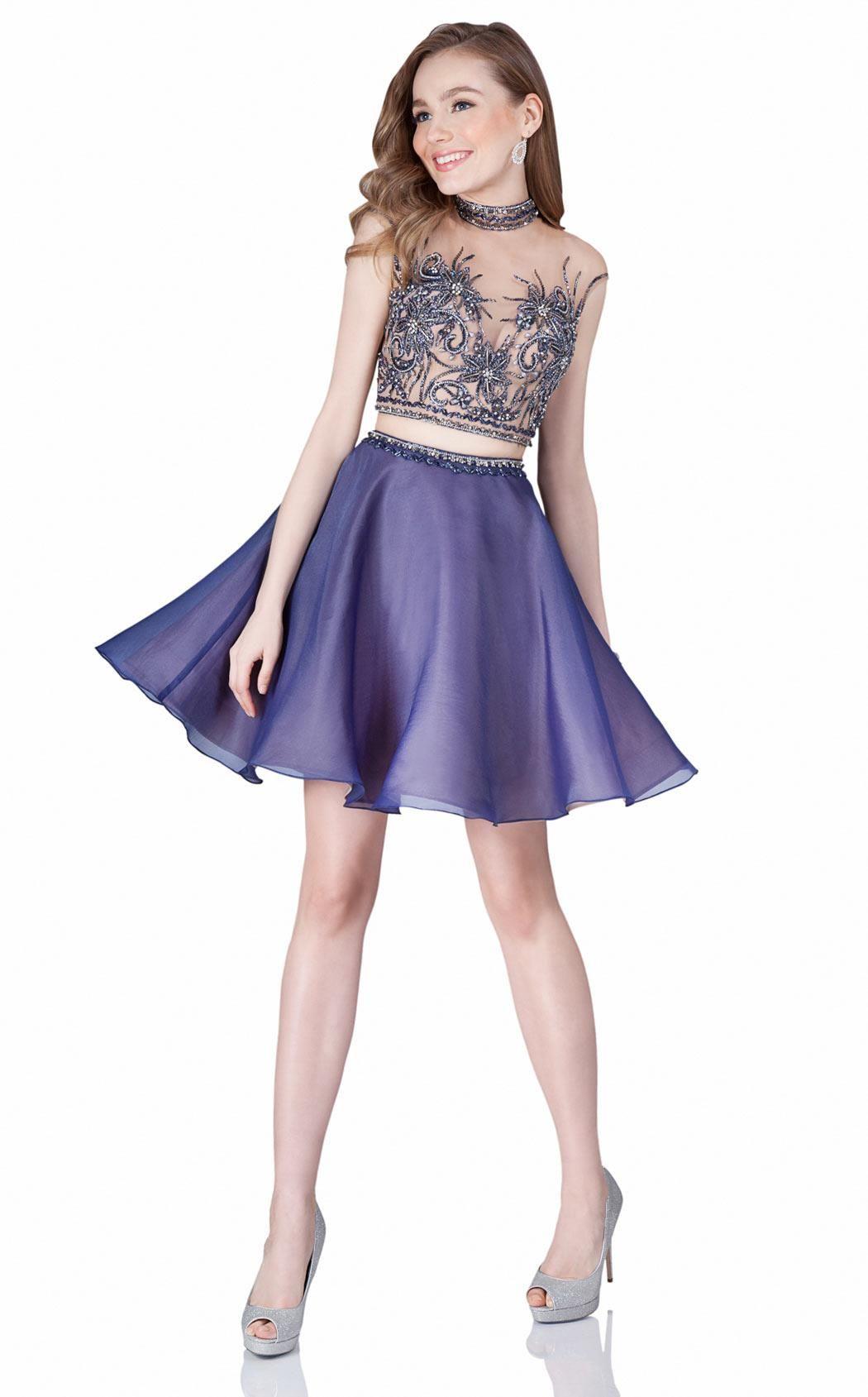 f04754297a3 Brand Designer  Terani Prom Occasion  Evening Homecoming Prom Dress Dress  Length  Cocktail Dress Silhouette  Two-Piece Shoulder  Sleeveless Neckline   High ...