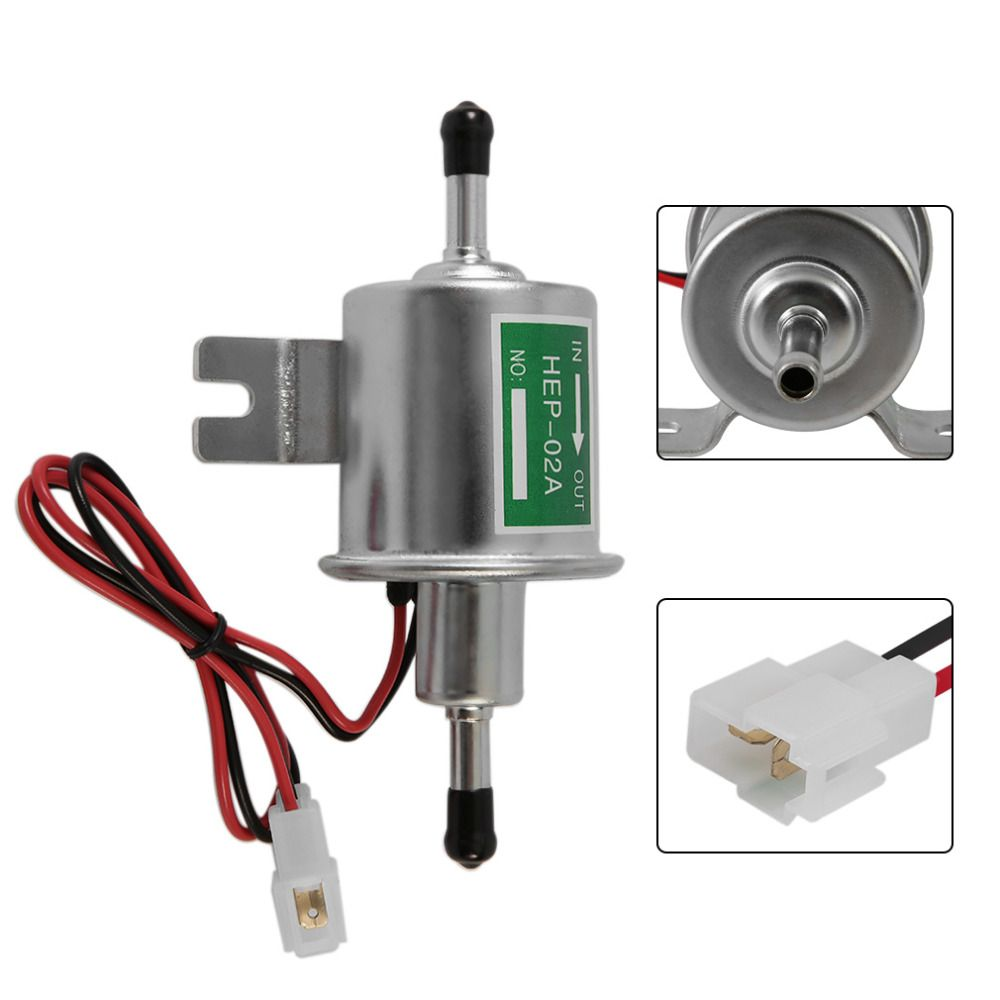 Hep 02a 12v Electronic Fuel Transfer Oil Pump For Ford Auto Automobile Low Pressure Inline Fuel Pump Silver Free Shipping With Images Silver Pumps Low Pressure Oils