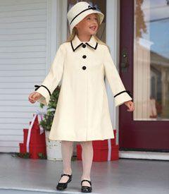 winter ivory coat & matching hat! - Chasing Fireflies