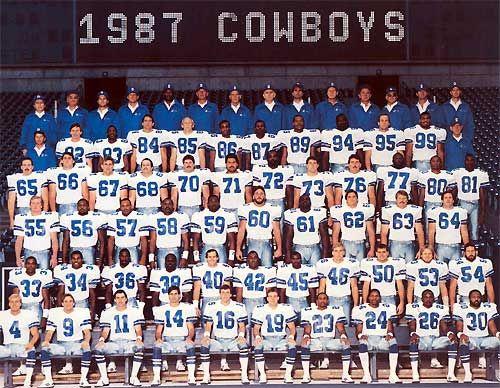1987 Dallas Cowboys Dallas Cowboys Dallas Cowboys Football Team