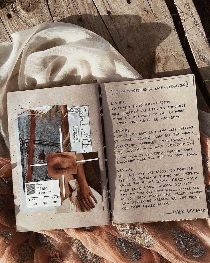 24 Wunderschönes Foto des ästhetischen Einbandes von Scrapbook. Einklebebuch-ästhetische Abdeckung, die ich… bin #artjournalinspiration