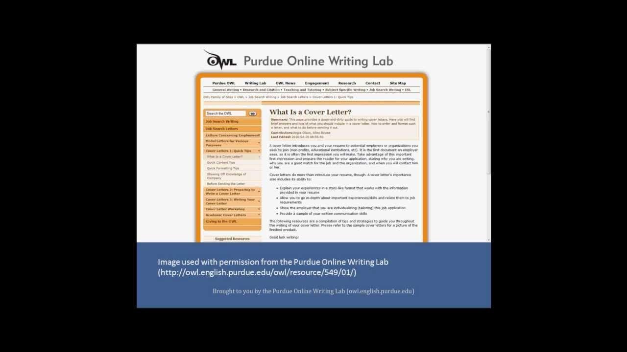 Purdue Owl Cover Letters Resumewritinglayout Resume Writing