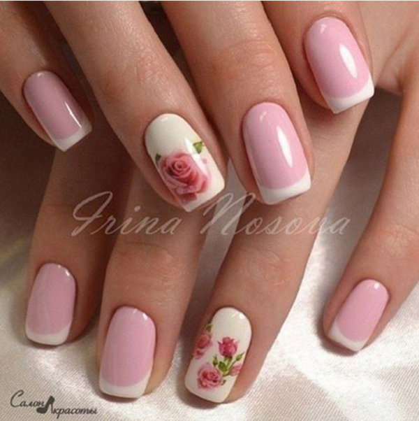 50 Rose Nail Art Design Ideas | Spring nails, Rose nails and Manicure